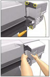 замена ремня плоттера
