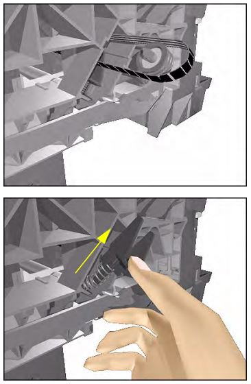 замена ремня плоттера hp