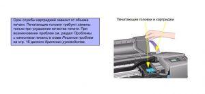 Печатающие головки требуют замены только при ухудшении качества печати